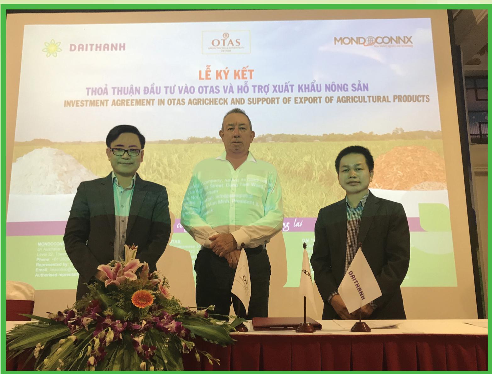 Ký kết thỏa thuận đầu tư vào Otas và hỗ trợ xuất khẩu nông sản
